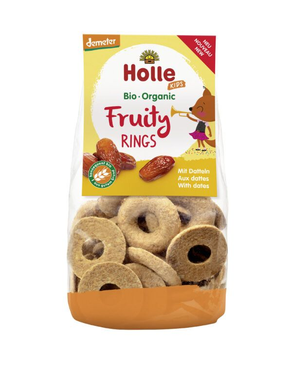 Holle Fruity Rings mit Datteln 6 x 125g