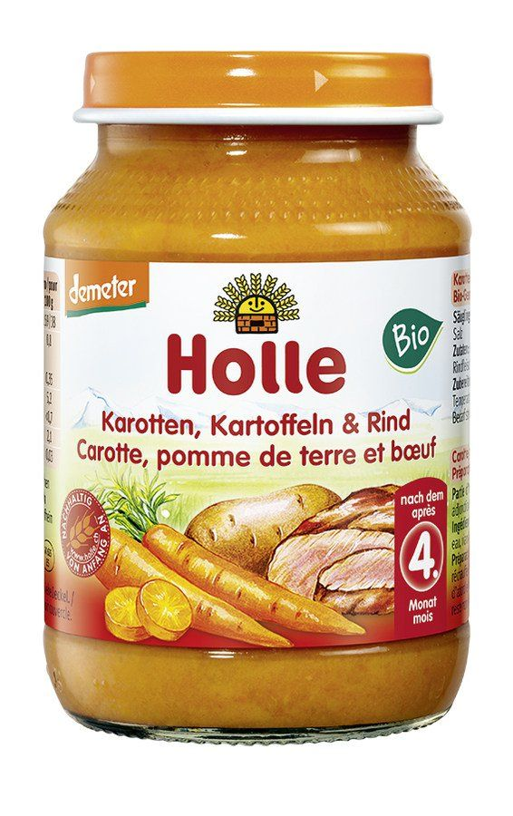 Holle  Karotten, Kartoffeln & Rind 6x190g