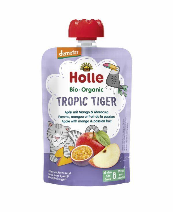Holle Tropic Tiger - Pouchy Apfel, Mango, Maracuja 12x100g