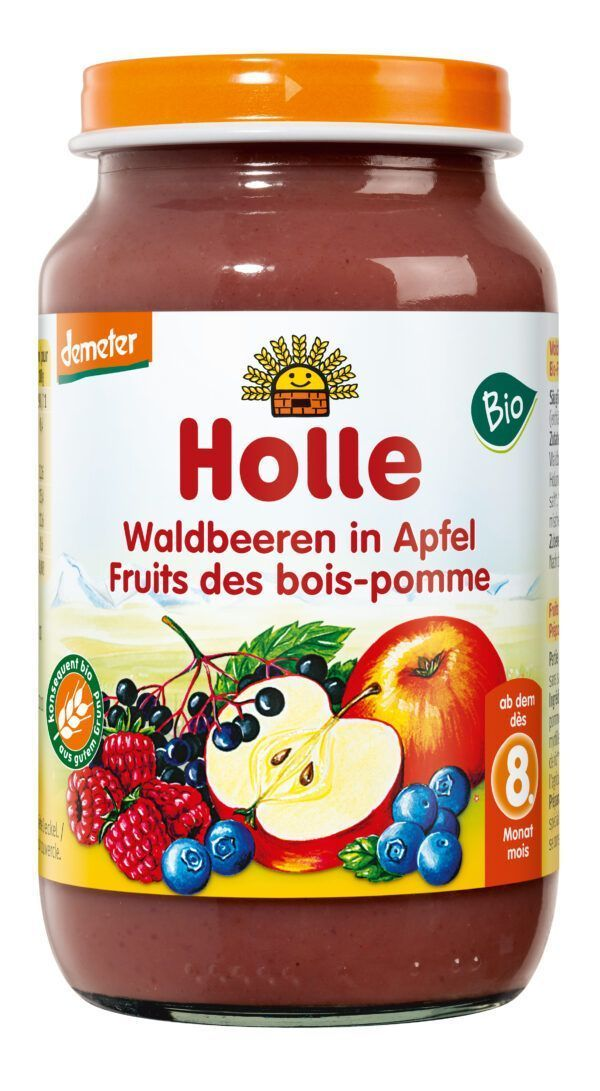 Holle Waldbeeren in Apfel 6 x 220g