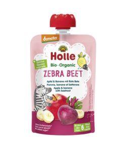 Holle Zebra Beet - Pouchy Apfel, Banane, rote Bete 12x100g