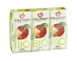 IMS Höllinger Bio Apfeldirektsaft 3*200ml mit stillem Wasser. Fruchtsaftgehalt mind. 60%. 8x600ml