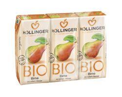 IMS Höllinger Bio Birnendirektsaft 3*200ml naturtrüb mit stillem Wasser. Fruchtgehalt mind. 60%. 8x600ml