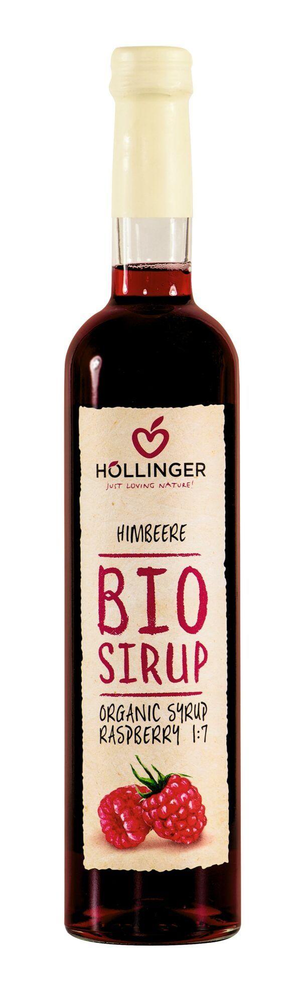 IMS Höllinger Bio Himbeer Sirup 0,5l Glass Flasche 6x500ml