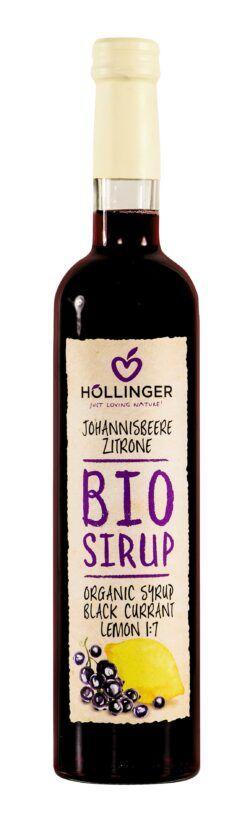 IMS Höllinger Bio Johannisbeer Zitrone Sirup 500ml Glass Flasche 6x500ml