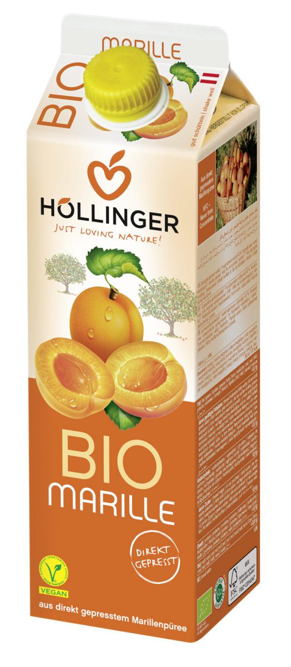 IMS Höllinger Bio Marillennektar*. Fruchtgehalt mind. 40%. 12x1l
