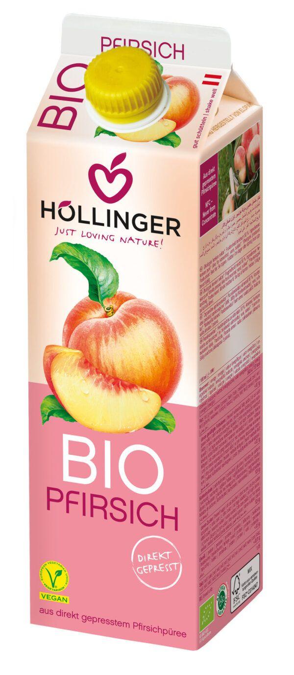 IMS Höllinger Bio Pfirsichnektar* Fruchtgehalt mind. 50% *Aus kontrolliert biologischem Anbau 12x1l