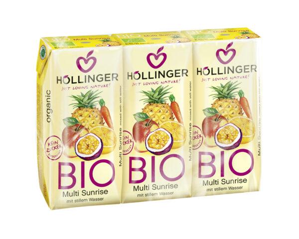IMS Höllinger Schulsaft Bio Multi Sunrise mit stillem Wasser 3*200ml Packung 8x600ml