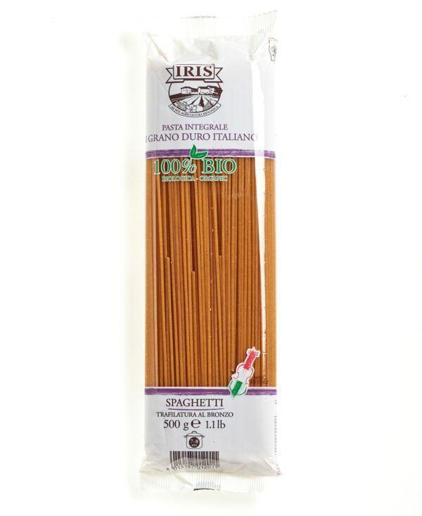 IRIS  Spaghetti Vollkorn aus Hartweizengriess 500 g von der Landwirtschaftskette 100% italienisch. 12x500g