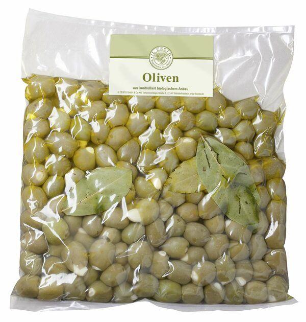 Il Cesto Griech. Oliven m. Knoblauch gef. natur 1,1kg