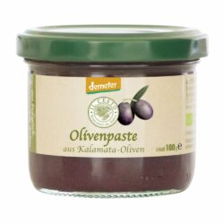 Il Cesto demeter Olivenpaste schwarz aus Kalamata-Oliven 100g
