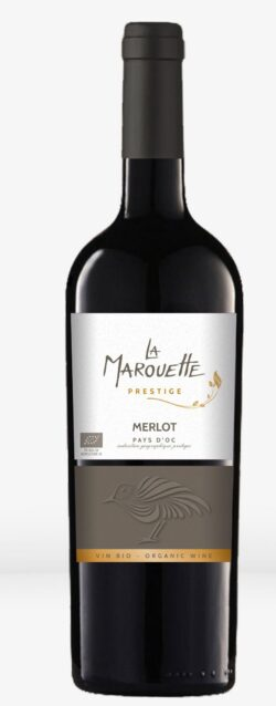 Jacques Frelin Vignobles SAS La Maison des Terroirs Vivants Rotwein, Marouette, 100% Merlot PRESTIGE, IGP Pays d'Oc, Frankreich 0,75l