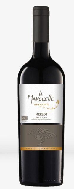 Jacques Frelin Vignobles SAS La Maison des Terroirs Vivants Rotwein, Marouette, 100% Merlot PRESTIGE, IGP Pays d'Oc, Frankreich 6x0,75l