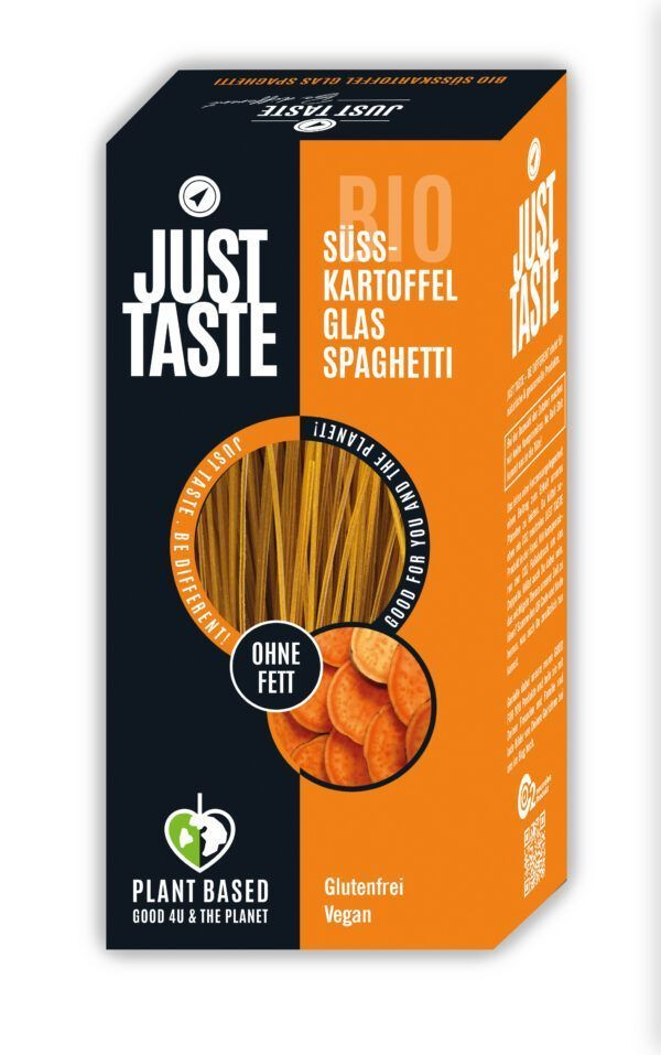 Just Taste Bio Lila Süsskartoffel Glas Fettuccine 6x250g