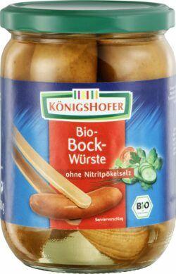 Königshofer Bockwürste geräuchert, ohne Nitritpökelsalz 6x550g