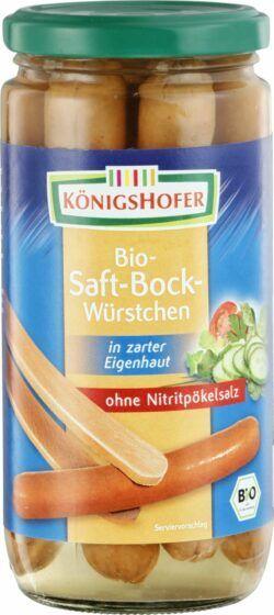 Königshofer Saftbockwürstchen in zarter Eigenhaut, geräuchert, ohne Nitritpökelsalz 6x400g