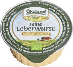ÖKOLAND Feine Leberwurst Gourmet-Qualität 10x50g