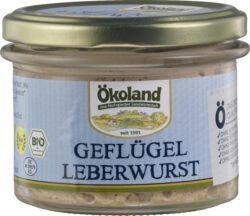 ÖKOLAND Geflügel-Leberwurst Gourmet-Qualität 6x160g