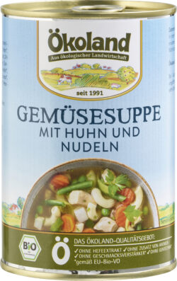 ÖKOLAND Gemüsesuppe mit Huhn 6x400g