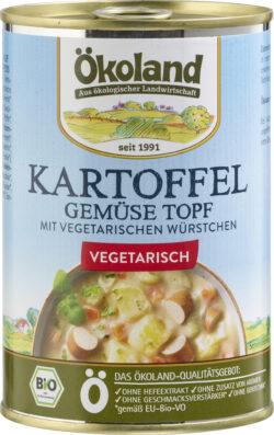 ÖKOLAND Kartoffel-Gemüse-Topf mit vegetarischen Würstchen 6x400g