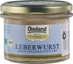 ÖKOLAND Leberwurst nach Hausmacher Art Gourmet-Qualität 6x160g