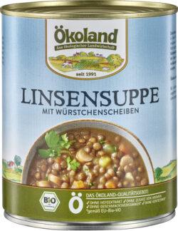ÖKOLAND Linsensuppe mit Würstchenscheiben 6x800g
