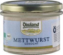 ÖKOLAND Mettwurst gekocht Gourmet-Qualität 160g