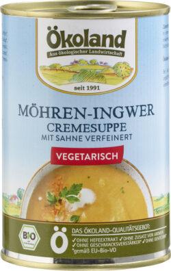 ÖKOLAND Möhren-Ingwer-Cremesuppe vegetarisch 6x400g