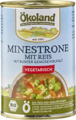 ÖKOLAND Minestrone mit Reis vegetarisch 6x400g