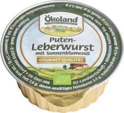 ÖKOLAND Puten-Leberwurst mit Sonnenblumenöl, Gourmet-Qualität 10x50g