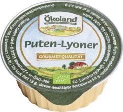 ÖKOLAND Puten-Lyoner, Gourmet-Qualität 10x50g