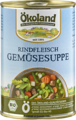 ÖKOLAND Rindfleisch-Gemüsesuppe 6x400g