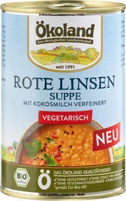 ÖKOLAND Rote Linsensuppe vegetarisch 6x400g
