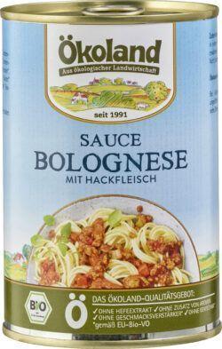 ÖKOLAND Sauce Bolognese mit Hackfleisch 6x400g