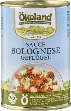 ÖKOLAND Sauce Bolognese mit Geflügelhackfleisch 6x400g