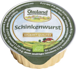 ÖKOLAND Schinkenwurst, Gourmet-Qualität 10x50g