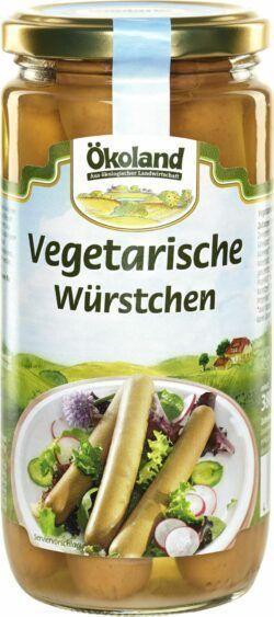 ÖKOLAND Vegetarische Würstchen mit Weizen- und Eieiweiß 6x380g