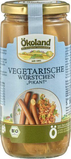 ÖKOLAND Vegetarische Würstchen PIKANT mit Weizen- und Eieiweiß 6x380g