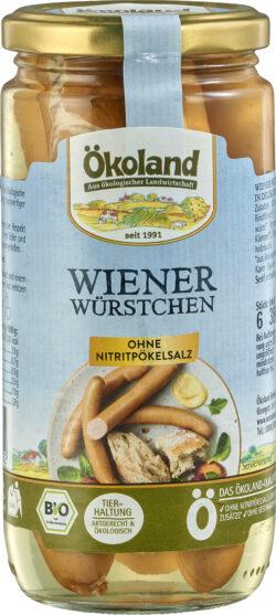 ÖKOLAND Wiener Würstchen in Delikatess-Qualität 6x380g