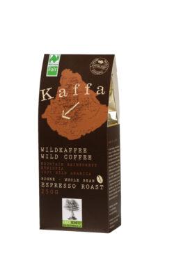 Kaffa Wildkaffee , Espresso Roast, ganze Bohne, 250g, bio- und Naturland Fair-zertifiziert 250g