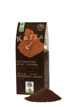 Kaffa Wildkaffee , Espresso Roast, gemahlen, 250g, bio- und Naturland Fair-zertifiziert 250g