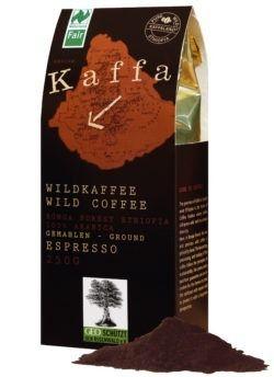 Kaffa Wildkaffee , Espresso, gemahlen, 250g, bio- und Naturland Fair-zertifiziert 250g