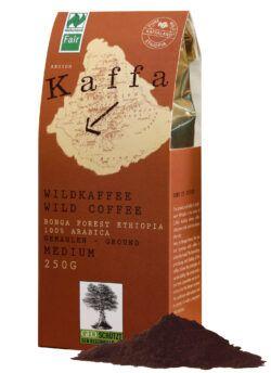 Kaffa Wildkaffee , medium, gemahlen, 250g, bio- und Naturland Fair-zertifiziert 250g