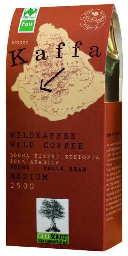 Kaffa Wildkaffee , Medium Roast, ganze Bohne, 250g, bio- und Naturland Fair-zertifiziert 10x250g