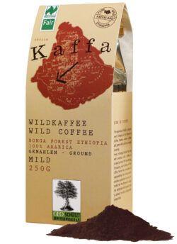 Kaffa Wildkaffee , mild, gemahlen, 250g, bio- und Naturland Fair-zertifiziert 10x250g
