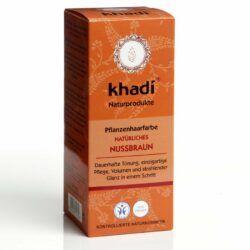 khadi Naturprodukte khadi Pflanzenhaarfarbe Nussbraun 100g