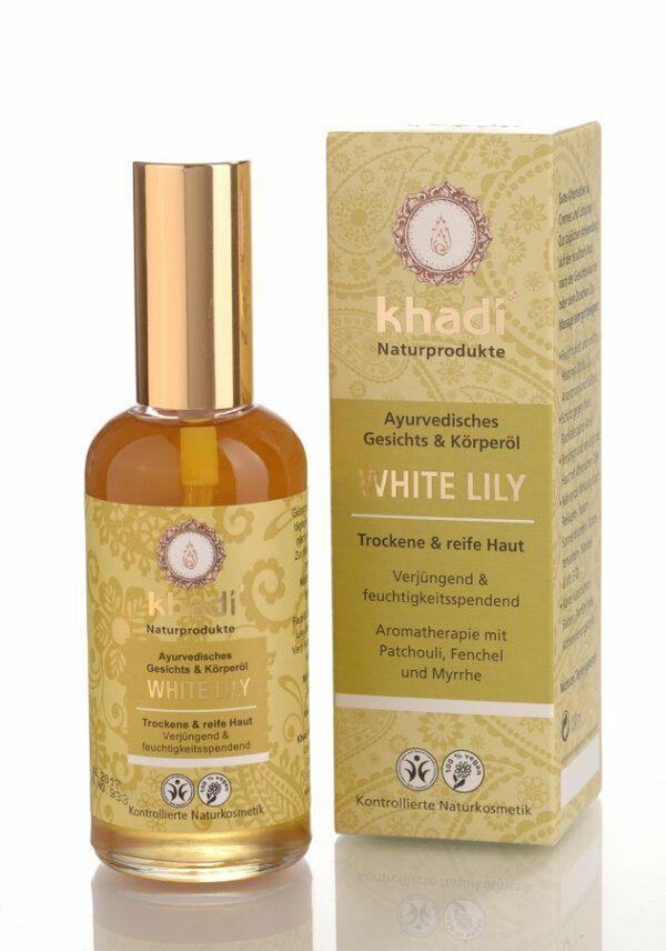 Khadi White Lily Gesichts- und Körperöl 100ml