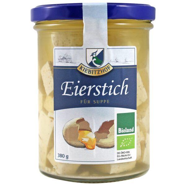 Kiebitzhof Bio Eierstich in Hühnerbrühe 6x380g
