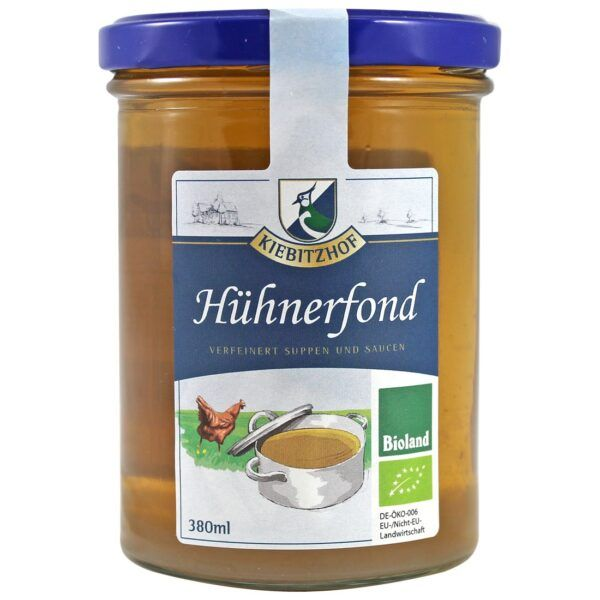 Kiebitzhof Hühnerfond, verfeinert Suppen und Saucen 6x380ml