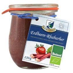 Kiebitzhof Fruchtaufstrich Erdbeere - Rhabarber 6x220g